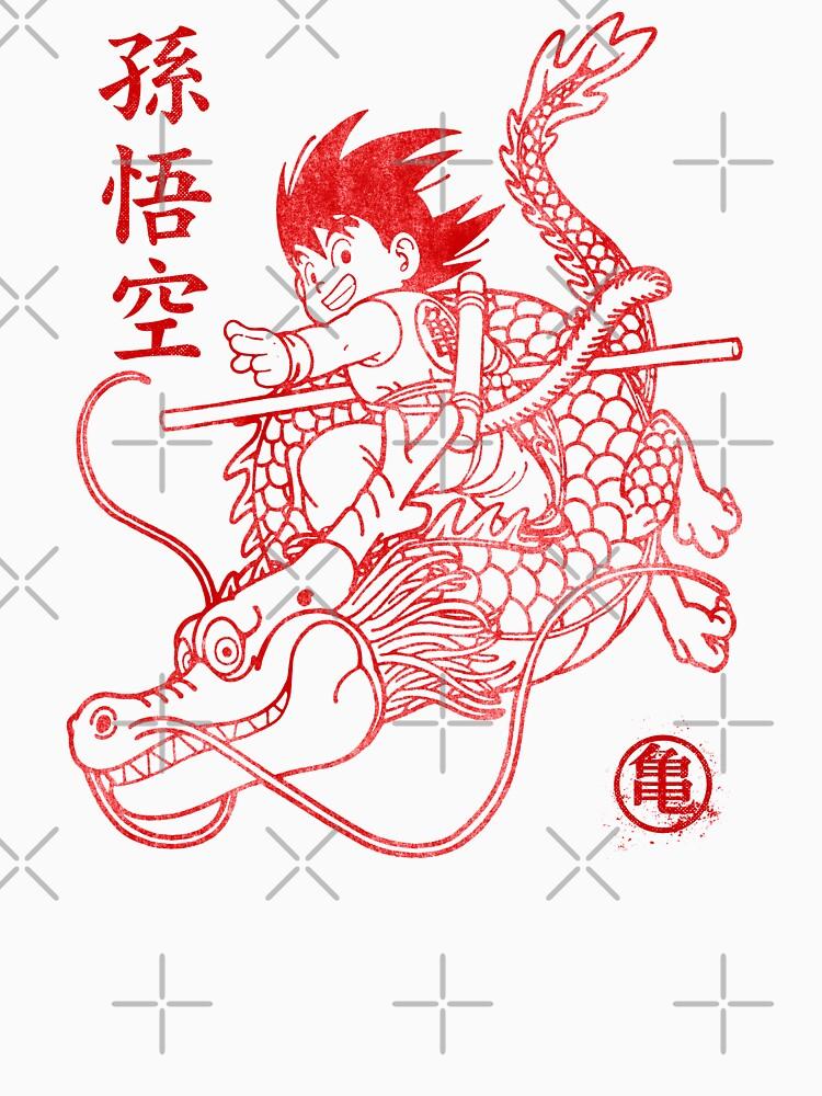 Son Goku Red ink by Akolytus