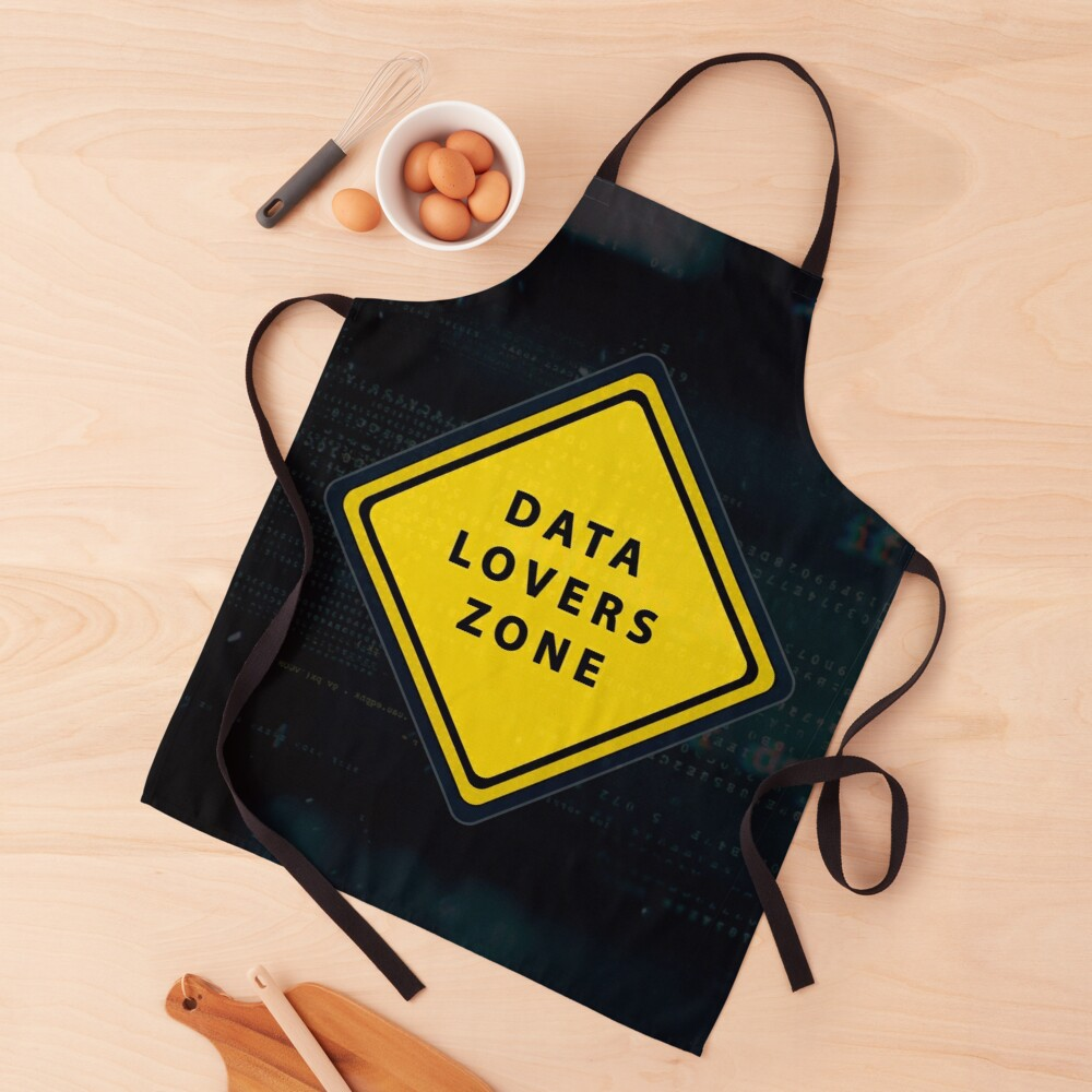 Data lovers zone poster Apron