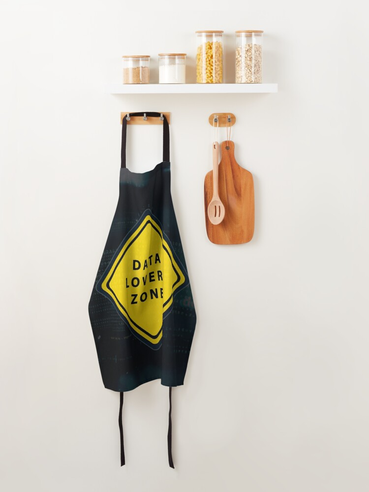 Alternate view of Data lovers zone poster Apron