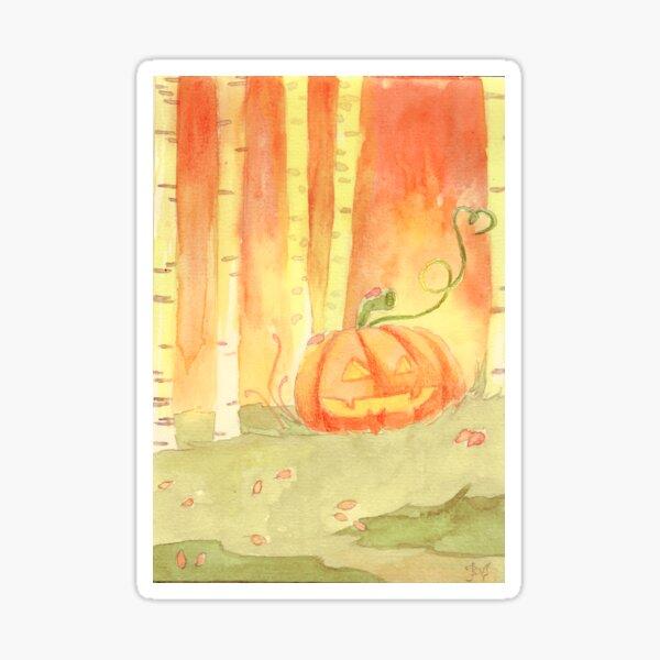 Halloween   Forest Child Sticker