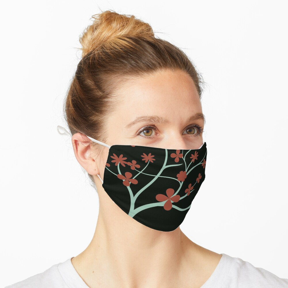 Simple Red Flowers Mask