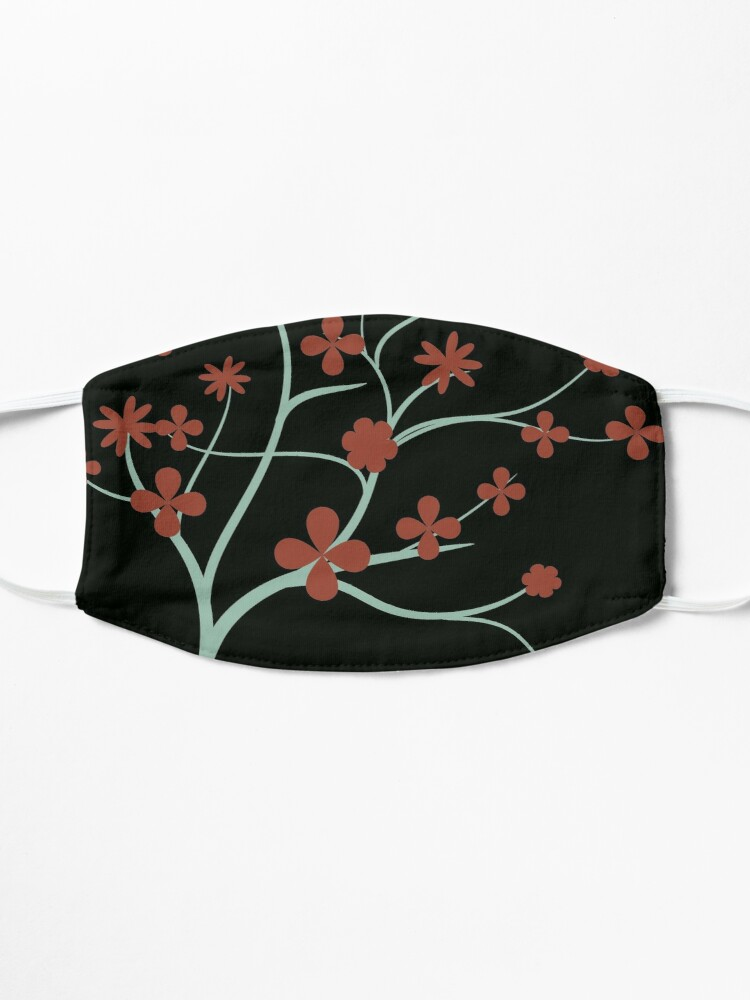 Alternate view of Simple Red Flowers Mask