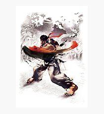Ryu super hook - street fighter Photographic Print