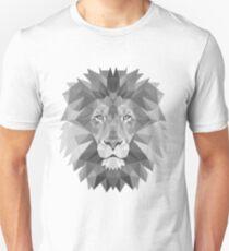 Geometric Lion in B&W Unisex T-Shirt