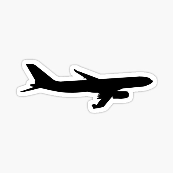 Airbus A330 silhouette Sticker