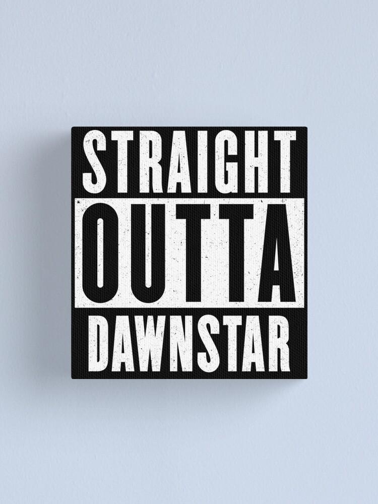 Alternate view of Straight outta Dawnstar Canvas Print