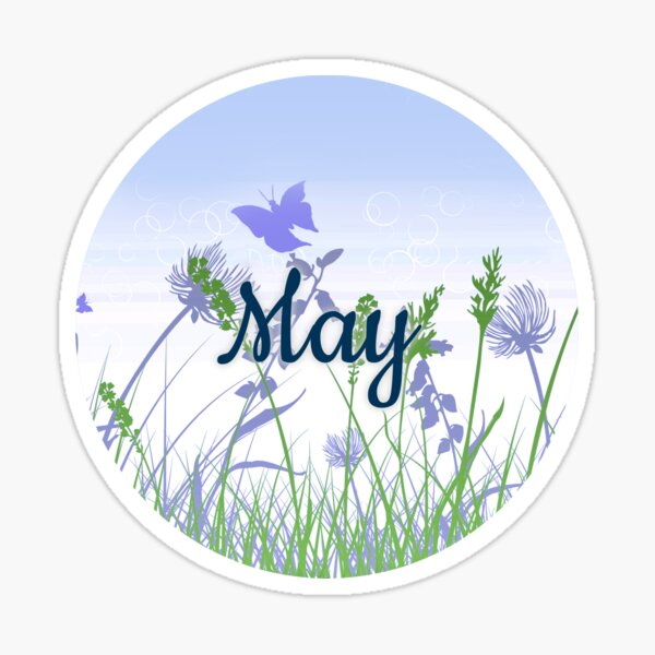 May monthly image for bullet journals & greeting cards Sticker
