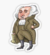 President John Adams Sticker