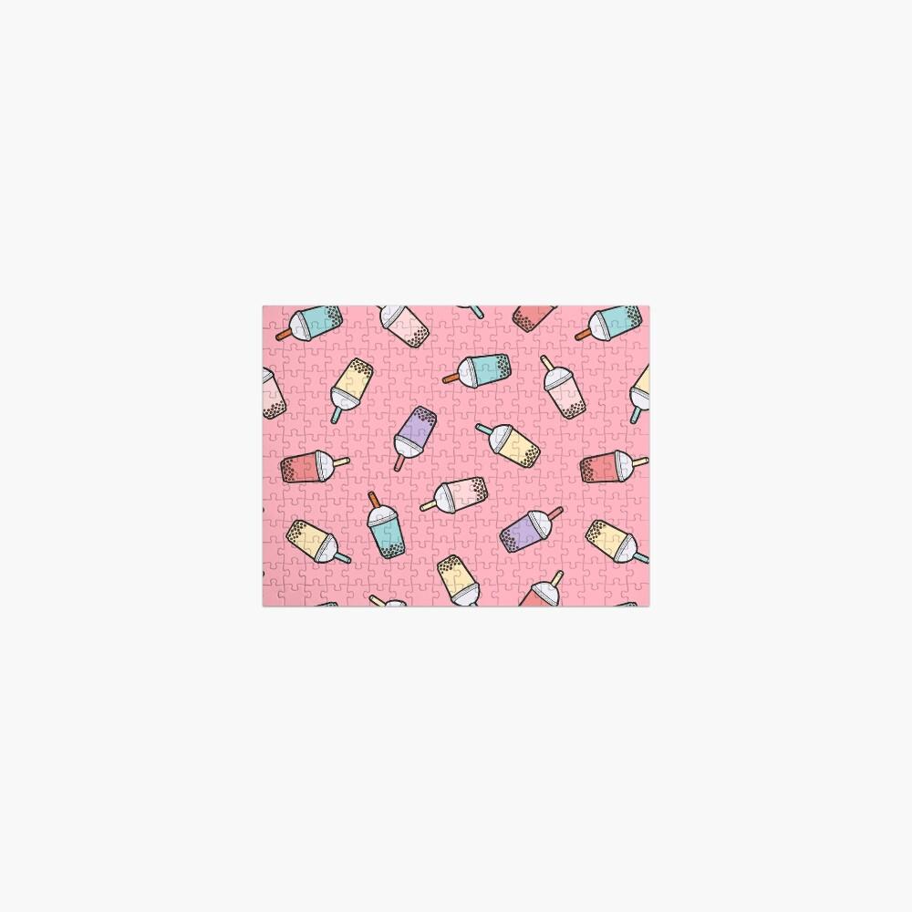 Bubble Tea Pattern in Pink Jigsaw Puzzle