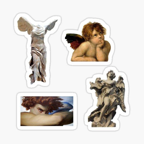 Paquete de pegatinas de ángel clásico Pegatina
