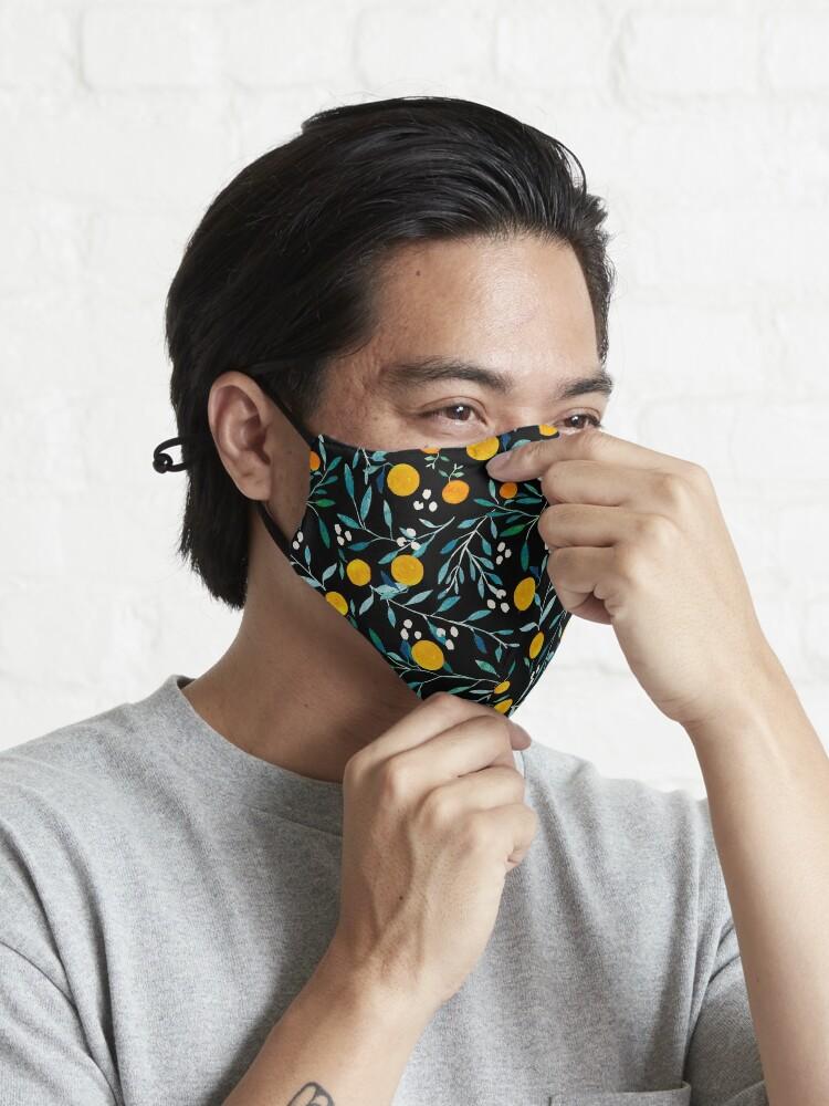 Alternate view of Oranges on Black Mask