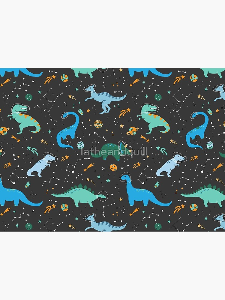 Space Dinosaurs in Blue by latheandquill