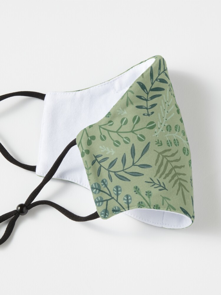 Alternate view of green leaves. leaf. nature. wild floral flowers Mask