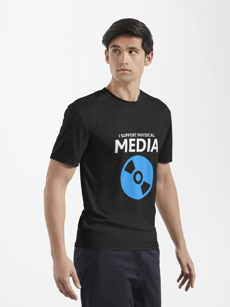 Alternate view of I Support Physical Media Active T-Shirt