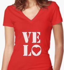 VELO / LOVE TEE Women's Fitted V-Neck T-Shirt
