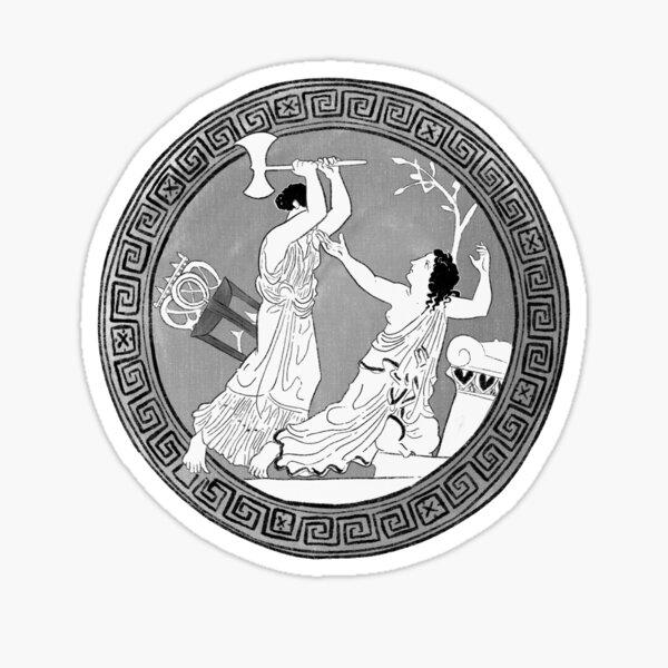 Clytemnestra Killing Cassandra Ancient Greek Vase Sticker