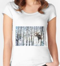 Painted Moose Women's Fitted Scoop T-Shirt