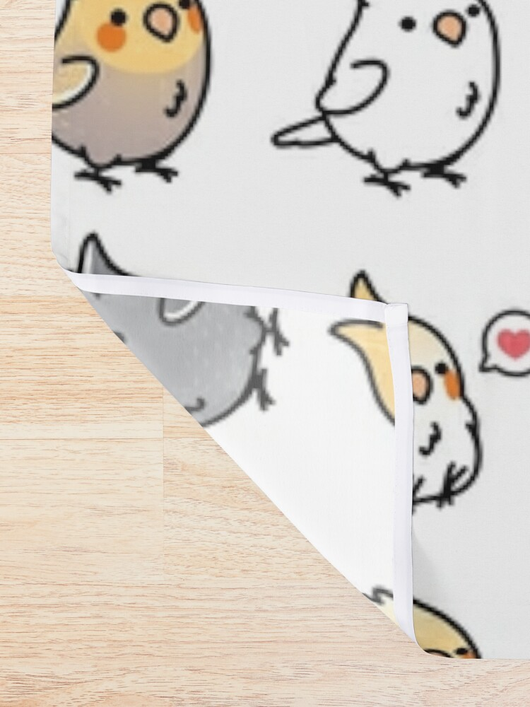 Alternate view of Chubby Cockatiel Collection Shower Curtain