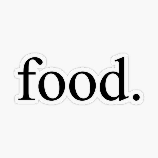 Food Transparent Sticker