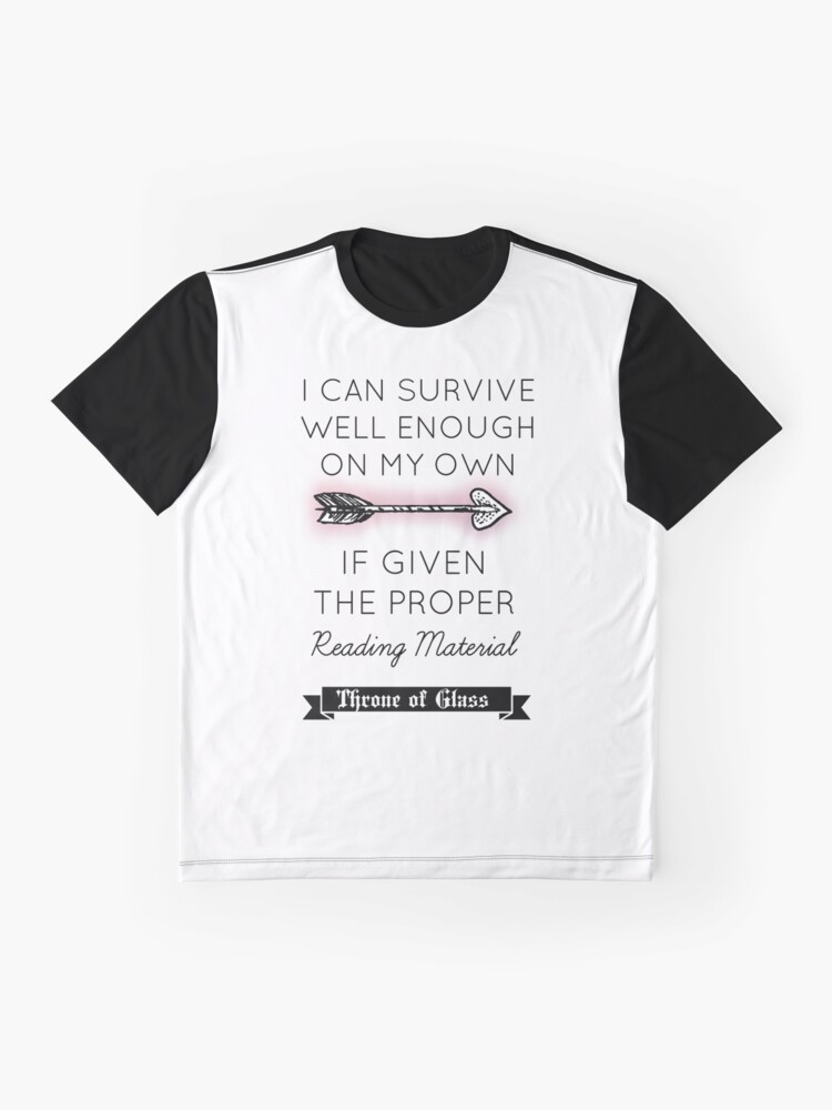 Alternate view of Throne of Glass - Quote Graphic T-Shirt