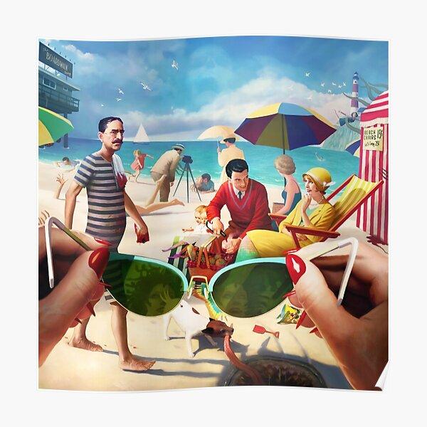 Under The Boardwalk by Jeff Lee Johnson Poster