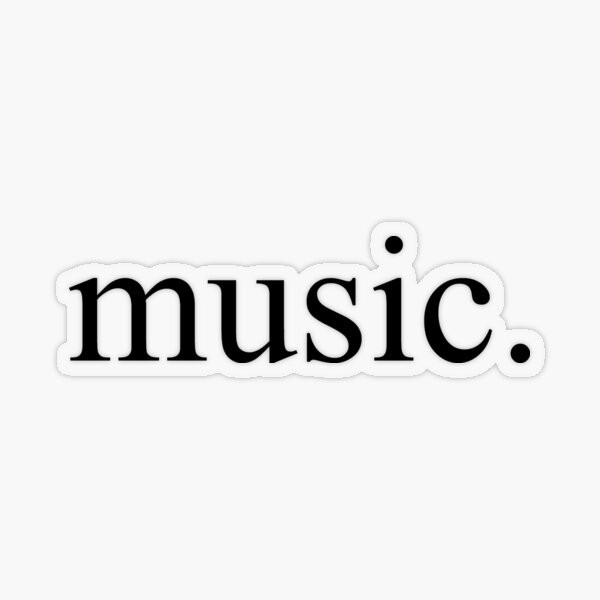 Music Transparent Sticker