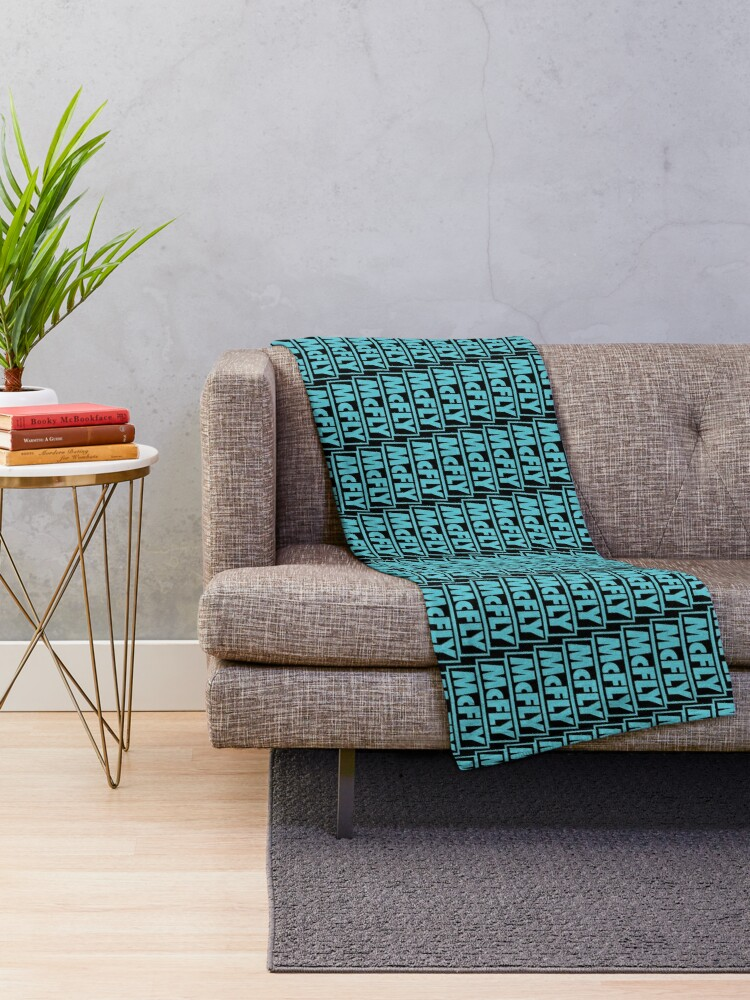 Alternate view of mcfly new logo 2020 in teal young dumb thrills Throw Blanket