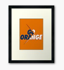 GO ORANGE - V2 Framed Print