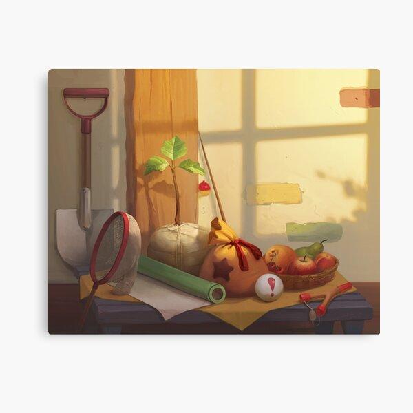 Animal Crossing Still Life Impression sur toile