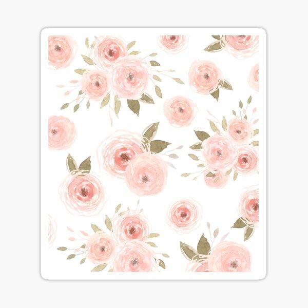 Peachy Floral  Sticker