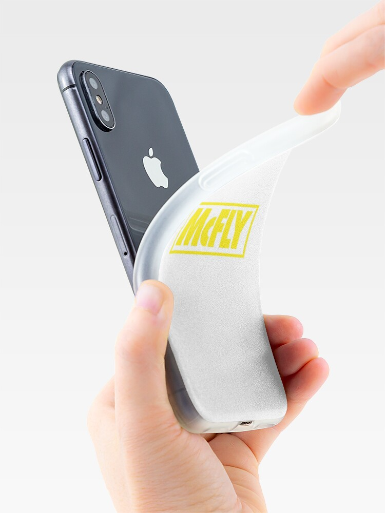 Alternate view of mcfly new logo 2020 in yellow young dumb thrills  iPhone Case & Cover