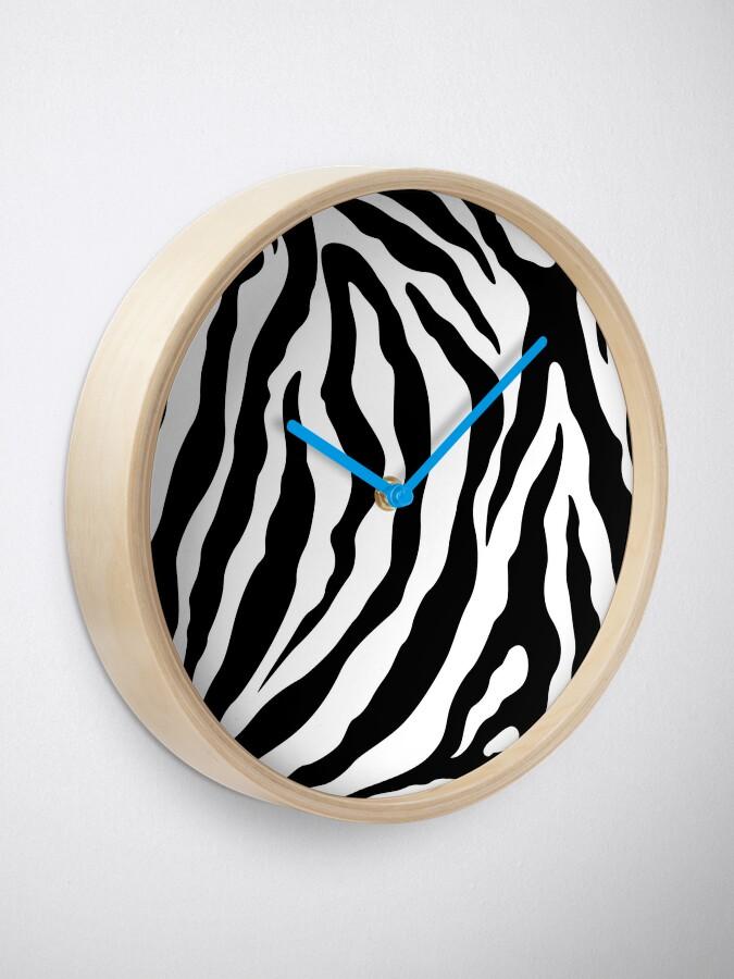 Alternate view of Zebra Pattern Black & White Clock
