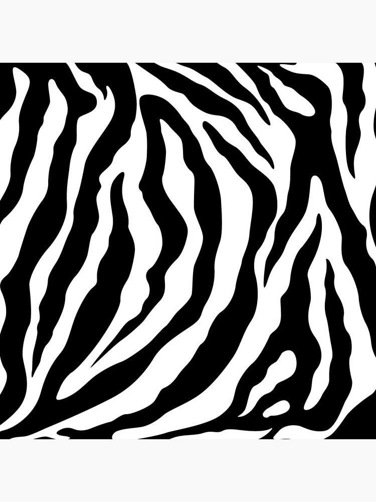Zebra Pattern Black & White by QuirkyClock