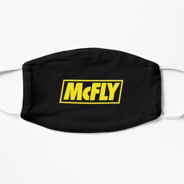 mcfly new logo 2020 in yellow young dumb thrills 2 Flat Mask