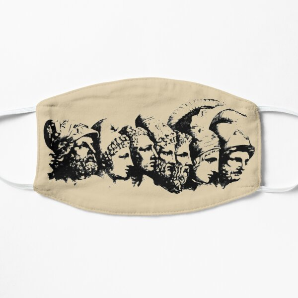Heroes of The Iliad (wash style) Flat Mask