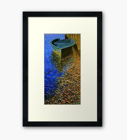 Dockside Reflections Framed Print