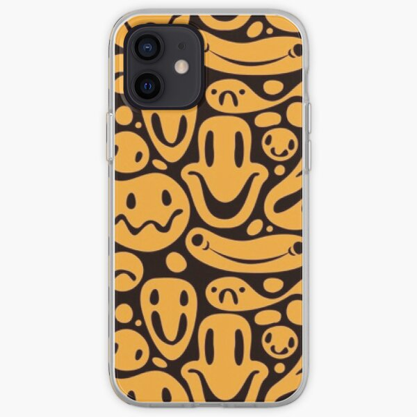 Happy distorted smile pattern iPhone Soft Case