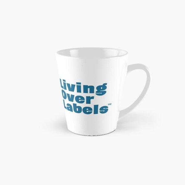 Living Over Labels™ Full Logo / Disable Ableism and Stigmas/ light and dark blue Tall Mug