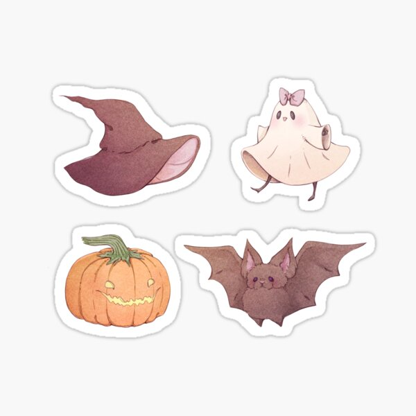 Four Cute Spooky Friends  Sticker