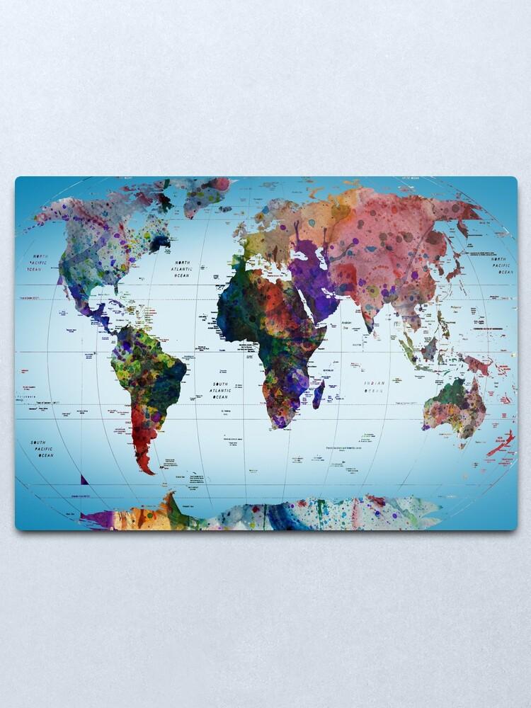 Alternate view of map Metal Print