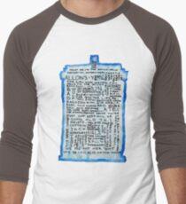 TARDIS Quotes - Doctor Who Men's Baseball ¾ T-Shirt