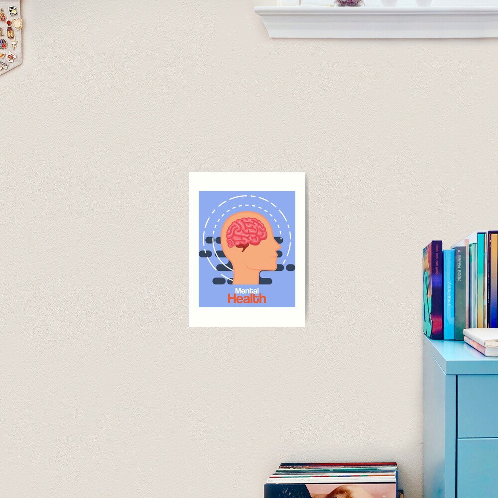 """World Mental Health Day"" Art Print by ReshenNY   Redbubble"