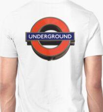 UNDERGROUND, TUBE, SIGN, Roundel, platform, Ealing Broadway, Westminster, BRITISH, BRITAIN, UK Unisex T-Shirt