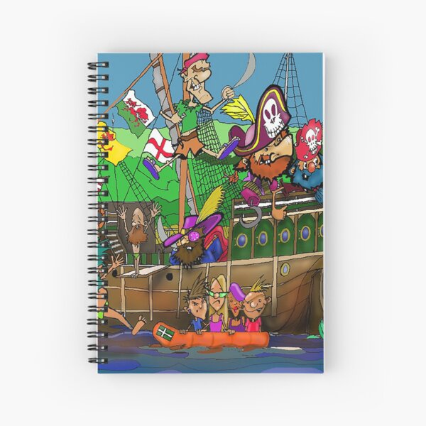 Padstow Pirates Spiral Notebook