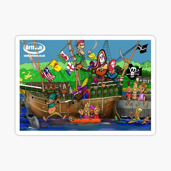 Padstow Pirates Sticker
