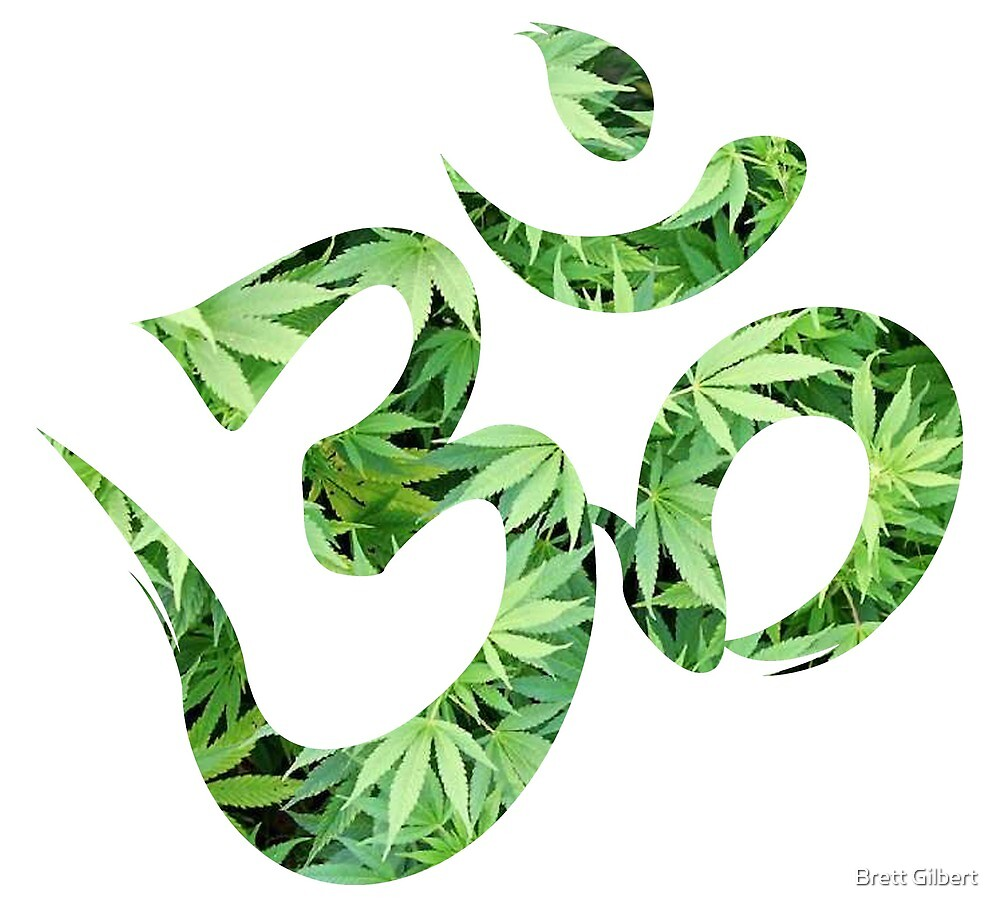 Ohm made of marijuana leaves by Brett Gilbert