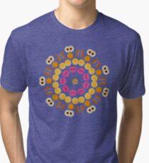 Kaleidoscope Biscuit Circular Pattern Tri-blend T-Shirt