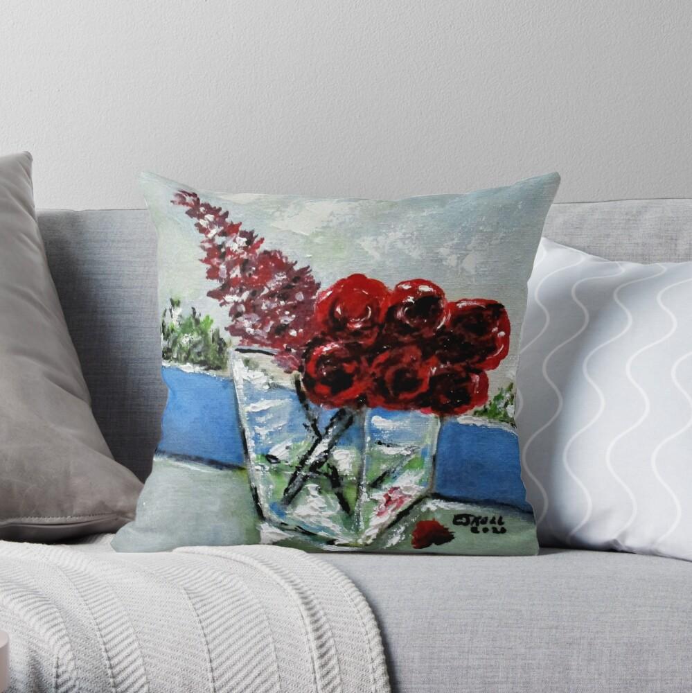 Window Bouquet No2. Throw Pillow