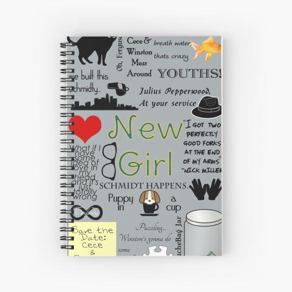 New Girl Spiral Notebook