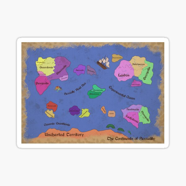 The Continents of Sexuality Sticker